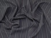 Lady McElroy Pinstripe Suiting Fabric  Black