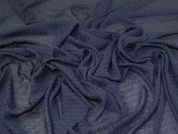 Lady McElroy Jacquard Chiffon Fabric  Navy Blue