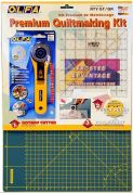 Olfa Quilt Making Kit (Rotary Cutter, Quilters Ruler & Cutting Mat)