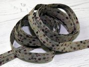 Stephanoise Rustic Floral Print Cotton Bias Binding Tape