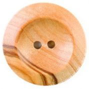 Crendon Round 2 Hole Natural Wood Buttons