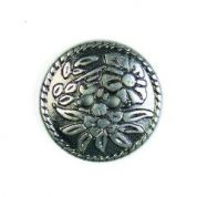 Crendon Embossed Floral Metal Buttons