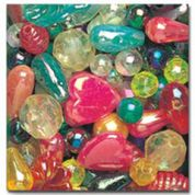 Impex Assorted Shape Plastic Craft Beads  Assorted Colours