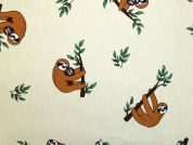 Sloths Canvas Fabric  Ginger & Lemon