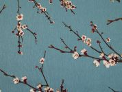 Cotton Canvas Fabric  Teal