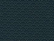 Sevenberry Japanese Kasuri Cotton Dress Fabric  Navy Blue