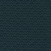 Sevenberry Japanese Kasuri Fabric  Navy Blue