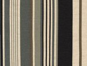 Robert Kaufman Stripe Cotton & Flax Canvas Dress Fabric  Black & Beige