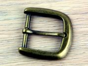 Simplicity D Shape Metal Buckle Fastener  Antique Gold