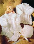Stylecraft Baby Jackets, Bonnets & Mittens Wondersoft Knitting Pattern 4110  3 Ply