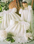 Stylecraft Baby Layette Set Wondersoft Knitting Pattern 4165  3 Ply