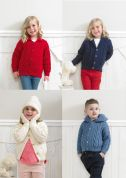 Stylecraft Childrens Jackets, Cap & Mittens Special Knitting Pattern 4174  Aran