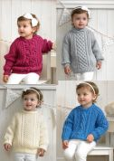 Stylecraft Childrens Sweaters Special Knitting Pattern 4175  Aran