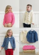 Stylecraft Childrens Duffle Jackets & Sweater Special Knitting Pattern 4205  Aran