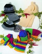 Stylecraft Childrens Hats, Scarves, Mittens & Gloves Special Knitting Pattern 4388  DK