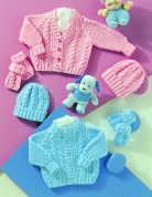 Stylecraft Baby Cardigan, Hat & Mittens Wondersoft Knitting Pattern 4771  DK