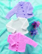 Stylecraft Baby Cardigans & Sweater Wondersoft Knitting Pattern 8039  4 Ply