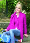 Stylecraft Ladies Jacket & Scarf Life Knitting Pattern 8393  Aran