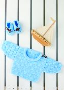 Stylecraft Baby Cardigan & Booties Wondersoft Knitting Pattern 8401  DK