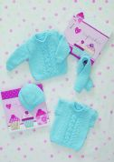 Stylecraft Baby Sweater, Slipover, Hat & Scarf Special Knitting Pattern 8493  Chunky