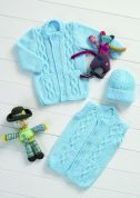 Stylecraft Baby Cardigan, Waistcoat & Hat Wondersoft Knitting Pattern 8572  DK