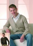 Stylecraft Mens Sweater & Cardigan Life Knitting Pattern 8599  DK