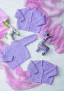 Stylecraft Baby Cardigans & Sweater Wondersoft Knitting Pattern 8606  DK