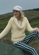 Stylecraft Ladies Sweater Astrakhan Knitting Pattern 8647  Super Chunky