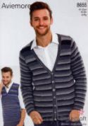 Stylecraft Mens Cardigan & Tank Top Knitting Pattern 8655  4 Ply
