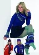 Stylecraft Ladies Accessories Harlequin Knitting Pattern 8684  Chunky