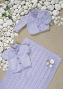 Stylecraft Baby Cardigans & Blanket Wondersoft Knitting Pattern 8699  DK