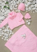 Stylecraft Baby Jacket, Hat, Mittens & Blanket Wondersoft Knitting Pattern 8701  DK