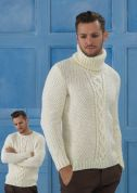 Stylecraft Mens Sweaters Life Knitting Pattern 8713  Aran