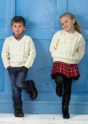 Stylecraft Childrens Sweaters Life Knitting Pattern 8714  Aran