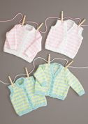 Stylecraft Baby Cardigans & Waistcoat Summer Breeze Knitting Pattern 8738  DK