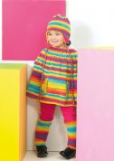 Stylecraft Childrens Cape, Leg Warmers & Helmet Merry Go Round Knitting Pattern 8741  DK