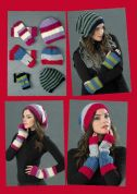 Stylecraft Ladies Beanie Hat & Fingerless Mitts Life Crochet Pattern 8762  Chunky