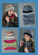 Stylecraft Ladies Beanie Hat & Cowl Special Crochet Pattern 8764  Chunky
