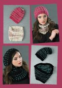 Stylecraft Ladies Ribbed Beanie, Hat & Cowl Life Knitting Pattern 8766  Chunky
