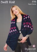 Stylecraft Ladies Russian Shawl Swift Knit Knitting Pattern 8785  Super Chunky