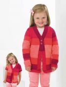 Stylecraft Childrens Cardigan Vision Knitting Pattern 8789  DK