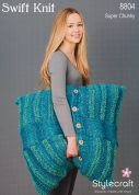 Stylecraft Home Floor Cushions Swift Knit Knitting Pattern 8804  Super Chunky