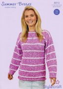 Stylecraft Ladies Sweater Knitting Pattern 8810  DK