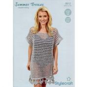 Stylecraft Ladies Dress Crochet Pattern 8812  DK
