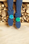Stylecraft Childrens Slipper Boots Classique Cotton Crochet Pattern 8852  DK