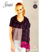 Stylecraft Ladies Scarf Wrap Knitting Pattern 8858