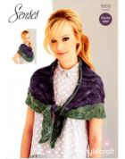 Stylecraft Ladies Scarf Wrap Knitting Pattern 8859