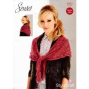 Stylecraft Ladies Scarf Wrap Knitting Pattern 8860