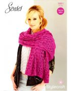 Stylecraft Ladies Scarf Wrap Knitting Pattern 8861