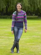 Stylecraft Ladies Andy Sweater Harlequin Knitting Pattern 8868  Chunky